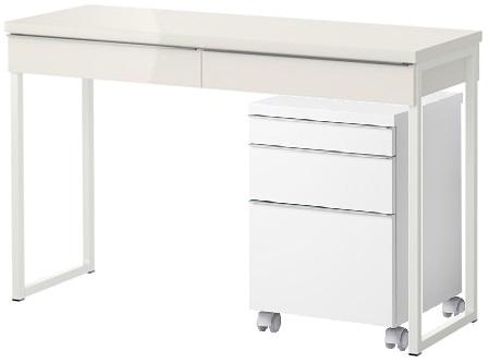 ImageBesta Burs Desk With Drawer Unit